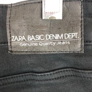 Zara Jeans - Zara black denim jeans with stripe embellishments
